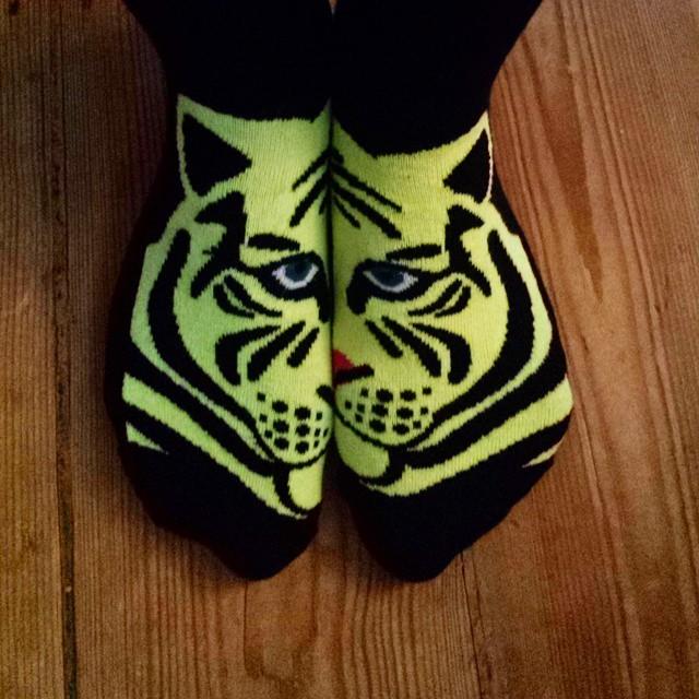 The 'go get them tiger' #socks