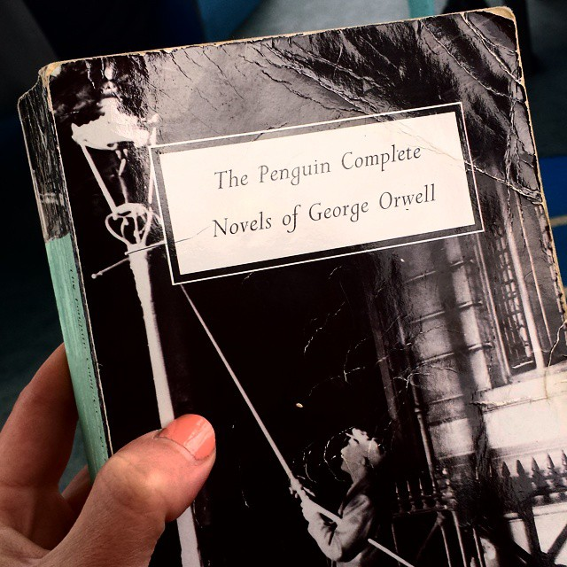 Today I shall be reading George Orwell.  #bookporn #books