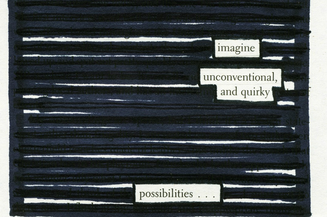 Possibilities Postcard from 50 Shaded Poems by Cassy Fry