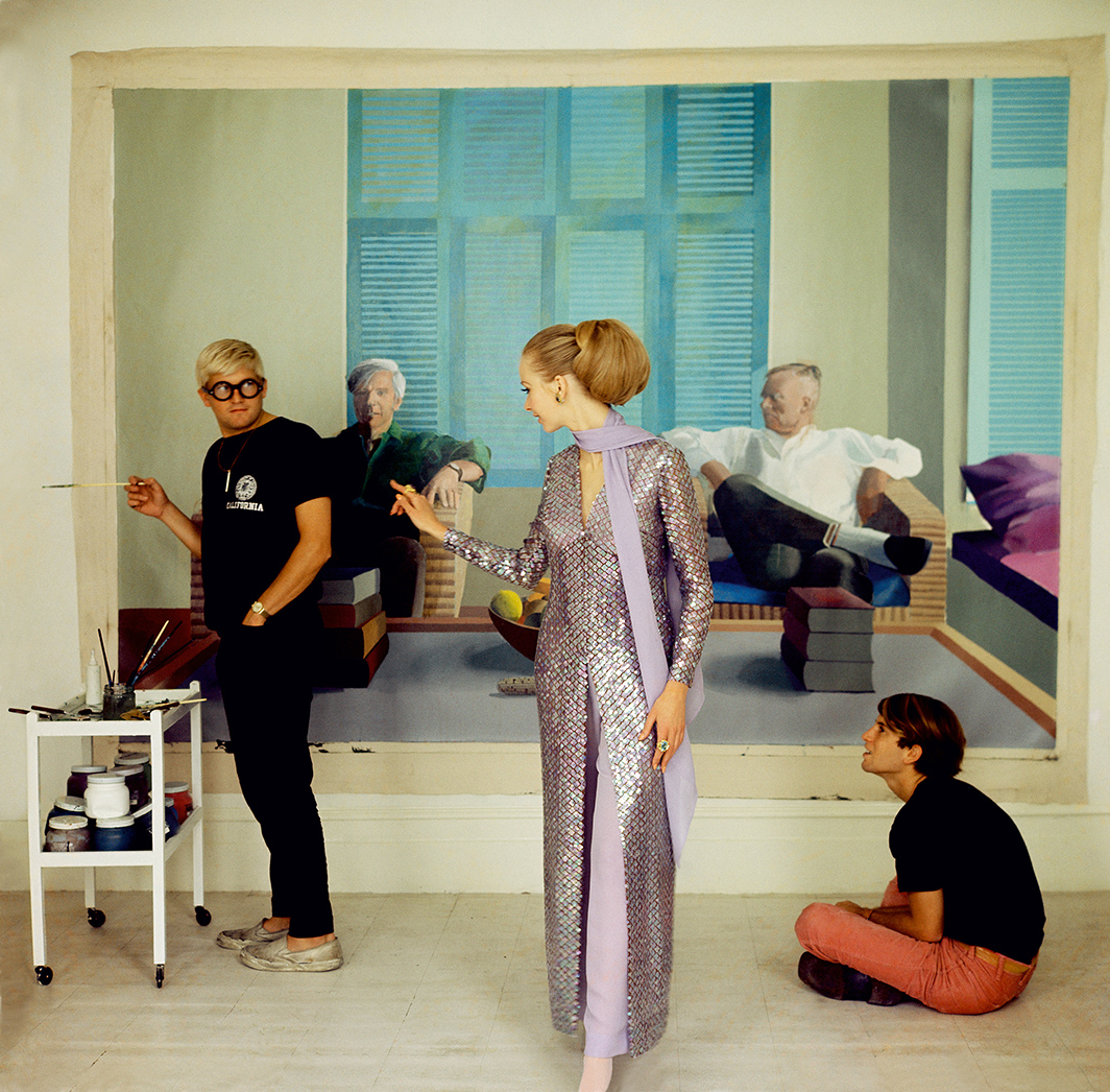 David Hockney, Peter Schlesinger and Maudie James